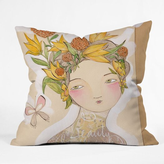 DENY Designs Cori Dantini Beauty On The Inside Indoor / Outdoor Polyester Throw Pillow