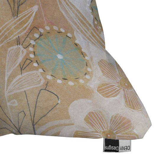 DENY Designs Cori Dantini Floral Indoor / Outdoor Polyester Throw Pillow