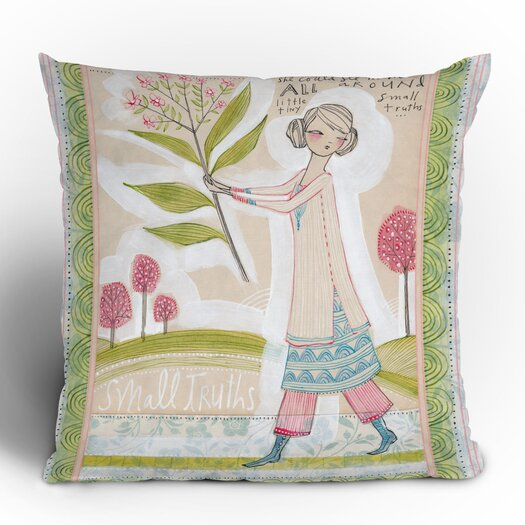 DENY Designs Cori Dantini Small Truths Woven Polyester Throw Pillow