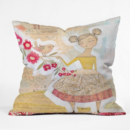 DENY Designs Cori Dantini The Secret To Happiness Indoor / Outdoor Polyester Throw Pillow