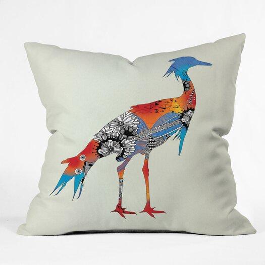 DENY Designs Iveta Abolina Bluebird Indoor / Outdoor Polyester Throw Pillow