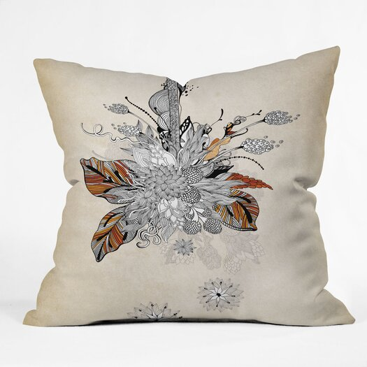 DENY Designs Iveta Abolina Floral 2 Indoor / Outdoor Polyester Throw Pillow