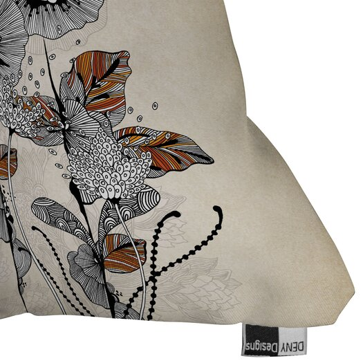 DENY Designs Iveta Abolina Floral 3 Indoor / Outdoor Polyester Throw Pillow