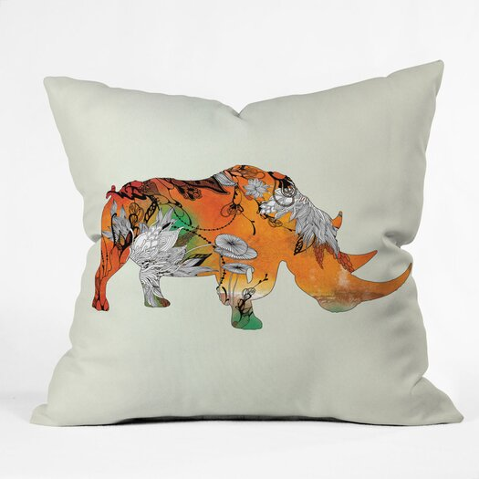 DENY Designs Iveta Abolina Rhino Woven Polyester Throw Pillow