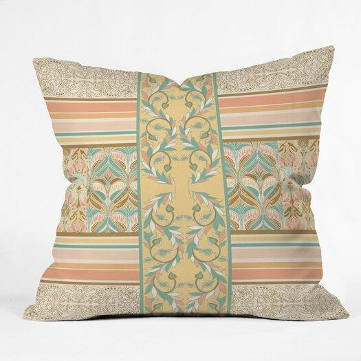 DENY Designs Jacqueline Maldonado Vintage Stripe Indoor / Outdoor Polyester Throw Pillow