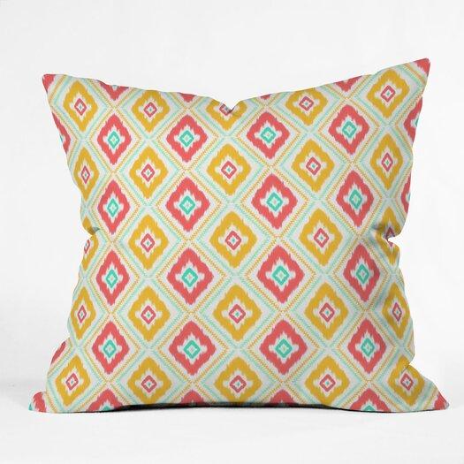 DENY Designs Jacqueline Maldonado Zig Zag Ikat Polyester Throw Pillow