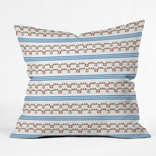 DENY Designs Jennifer Denty Anchor Polyester Throw Pillow