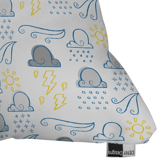 DENY Designs Jennifer Denty Clouds Indoor / Outdoor Polyester Throw Pillow