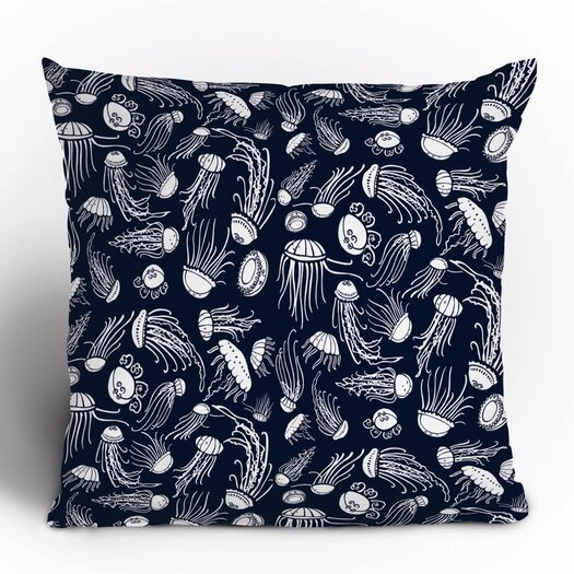 DENY Designs Jennifer Denty Jellyfish Polyester Throw Pillow