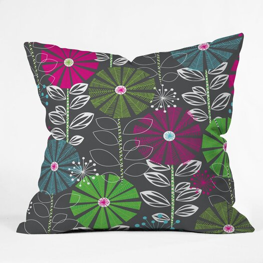 DENY Designs Khristian A Howell Cape Town Blooms Indoor / Outdoor Polyester Throw Pillow