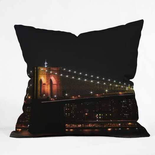 DENY Designs Leonidas Oxby Brooklyn 2 Indoor / Outdoor Polyester Throw Pillow