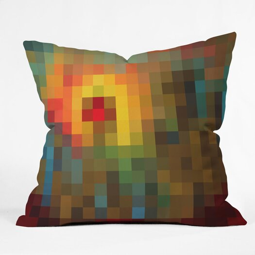 DENY Designs Madart Inc Glorious Colors Indoor / Outdoor Polyester Throw Pillow