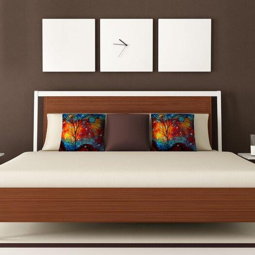 DENY Designs Madart Inc. Summer Snow Woven Polyester Throw Pillow