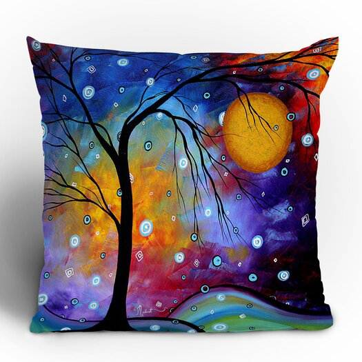 DENY Designs Madart Inc. Winter Sparkle Woven Polyester Throw Pillow