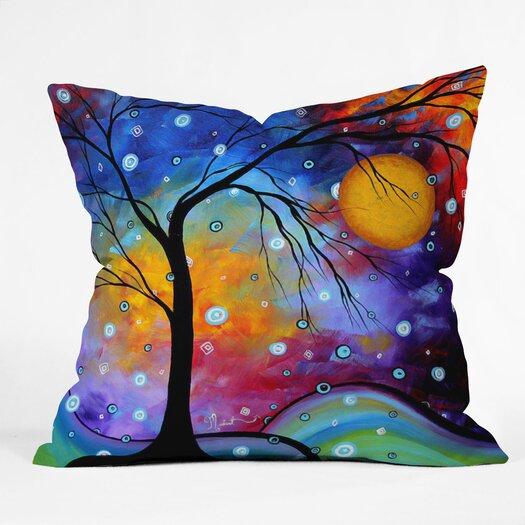 DENY Designs Madart Inc. Winter Sparkle Woven Polyester Throw Pillow