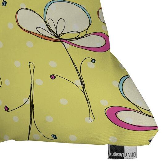 DENY Designs Rachael Taylor Floral Umbrellas Woven Polyester Throw Pillow