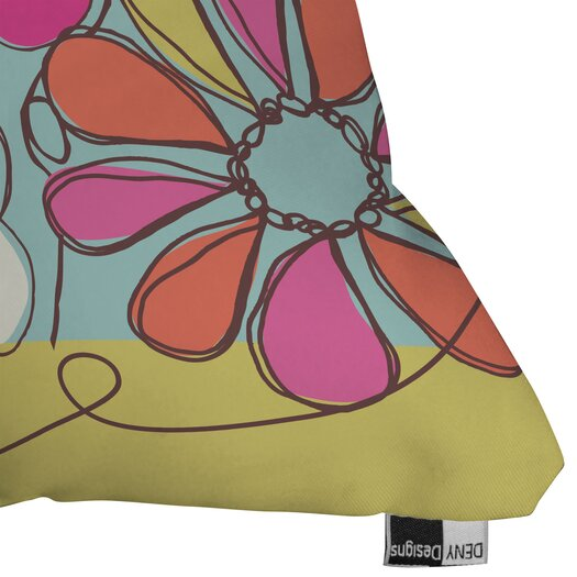 DENY Designs Rachael Taylor Fun Floral Indoor / Outdoor Polyester Throw Pillow