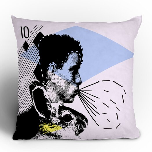 DENY Designs Randi Antonsen Poster Hero 1 Woven Polyester Throw Pillow