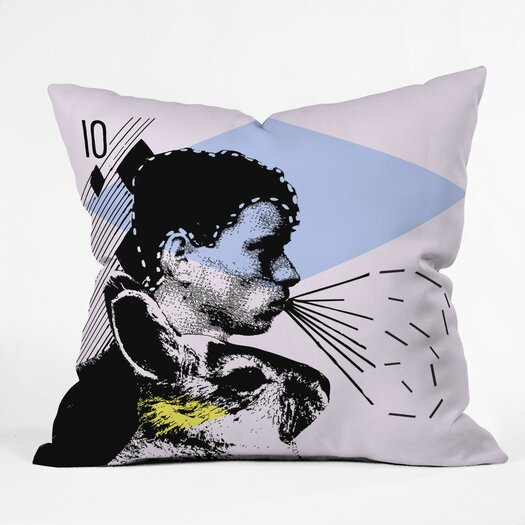 DENY Designs Randi Antonsen Poster Hero 1 Woven Polyester Throw Pillow