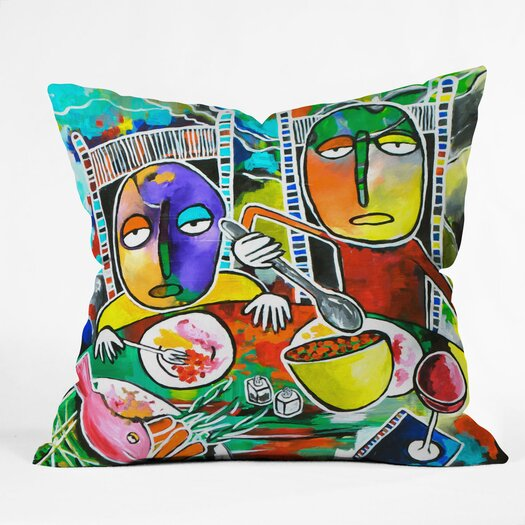 DENY Designs Robin Faye Gates Polyester I Should Give Relish a Try Indoor / Outdoor Throw Pillow