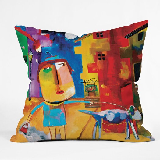 DENY Designs Robin Faye Gates Polyester Sylvia Needs Eggs Indoor / Outdoor Throw Pillow