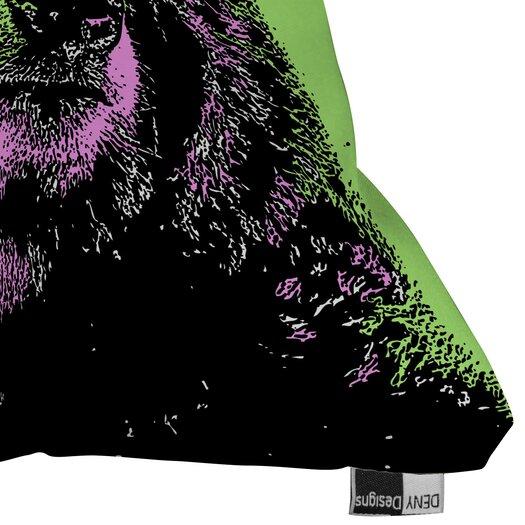 DENY Designs Romi Vega Polyester Bear Indoor / Outdoor Throw Pillow
