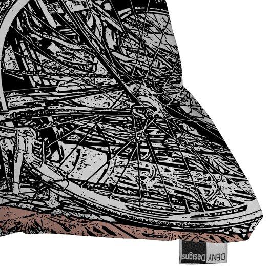 DENY Designs Romi Vega Bike Polyester Throw Pillow
