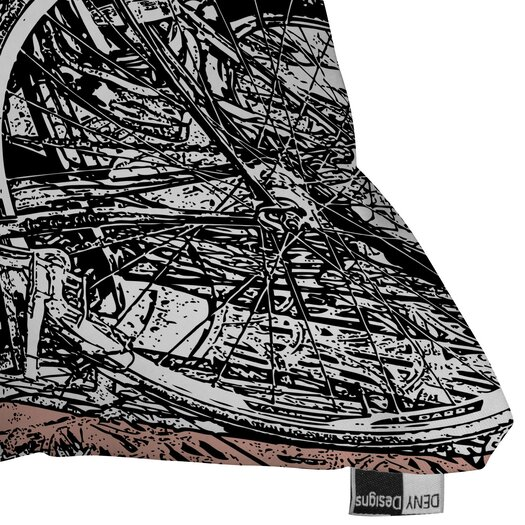 DENY Designs Romi Vega Polyester Bike Indoor / Outdoor Throw Pillow