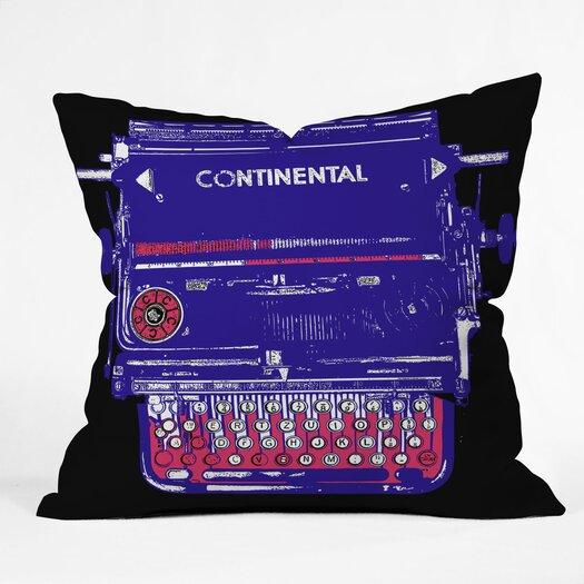 DENY Designs Romi Vega Continental Typewriter Polyester Throw Pillow
