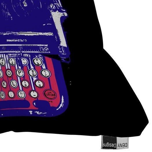 DENY Designs Romi Vega Polyester Continental Typewriter Indoor / Outdoor Throw Pillow