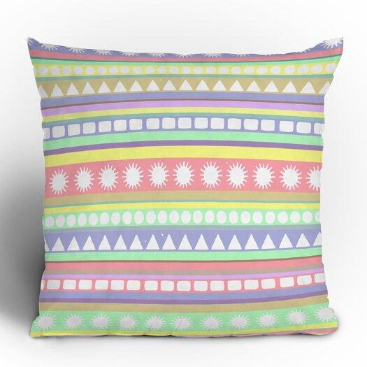 DENY Designs Romi Vega Pastel Pattern Polyester Throw Pillow