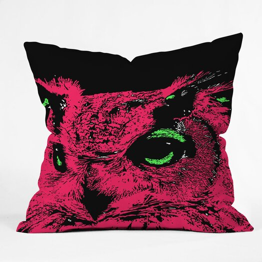 DENY Designs Romi Vega Owl Indoor/Outdoor Polyester Throw Pillow