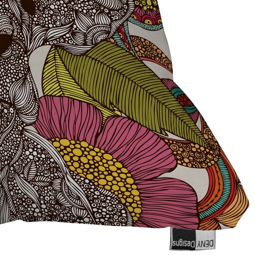 DENY Designs Valentina Ramos Arabella and The Flowers Indoor/Outdoor Polyester Throw Pillow