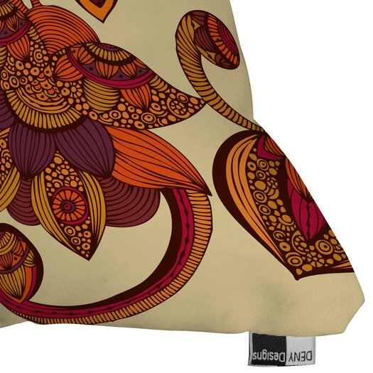 DENY Designs Valentina Ramos Boho Flowers Polyester Throw Pillow