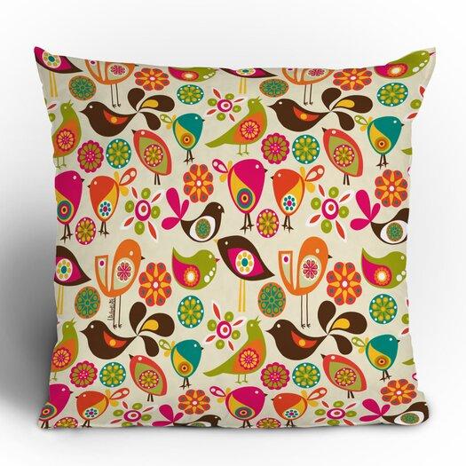 DENY Designs Valentina Ramos Little Birds Polyester Throw Pillow