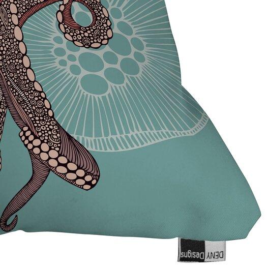 DENY Designs Valentina Ramos Octopus Bloom Polyester Throw Pillow