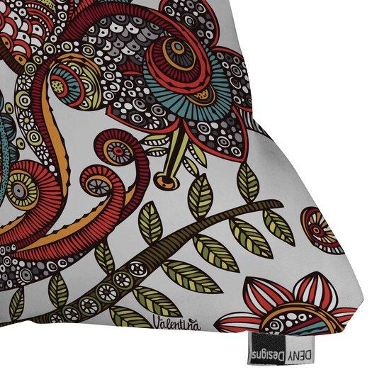 DENY Designs Valentina Ramos Paradise Bird Indoor/Outdoor Polyester Throw Pillow