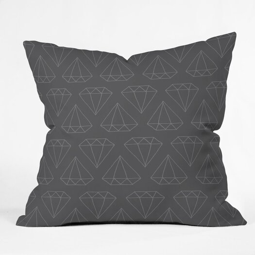 DENY Designs Wesley Bird Diamond Print Indoor/Outdoor Polyester Throw Pillow
