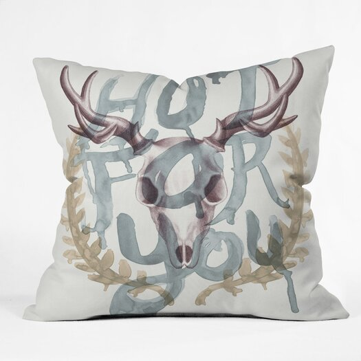 DENY Designs Wesley Bird Hot for You Polyester Throw Pillow