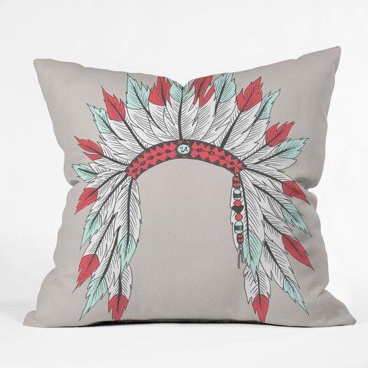 DENY Designs Wesley Bird Dressy Indoor/Outdoor Polyester Throw Pillow