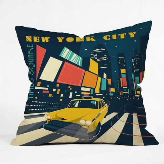 DENY Designs Anderson Design Group NYC Times Square Polyester Throw Pillow