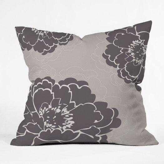 DENY Designs Caroline Okun Winter Peony Polyester Throw Pillow