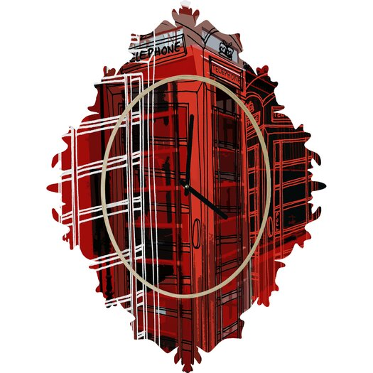 DENY Designs Aimee St. Hill Phone Box Wall Clock