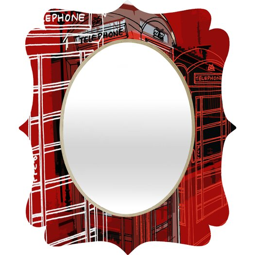 DENY Designs Aimee St Hill Phone Box Quatrefoil Mirror