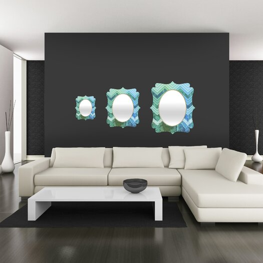 DENY Designs Gabi Azul Quatrefoil Mirror