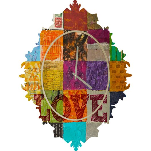DENY Designs Elizabeth St Hilaire Nelson Love Wall Clock