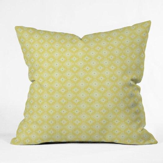 DENY Designs Caroline Okun Yellow Spirals Polyester Throw Pillow