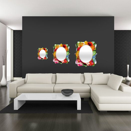 DENY Designs CayenaBlanca Big 2 Quatrefoil Mirror
