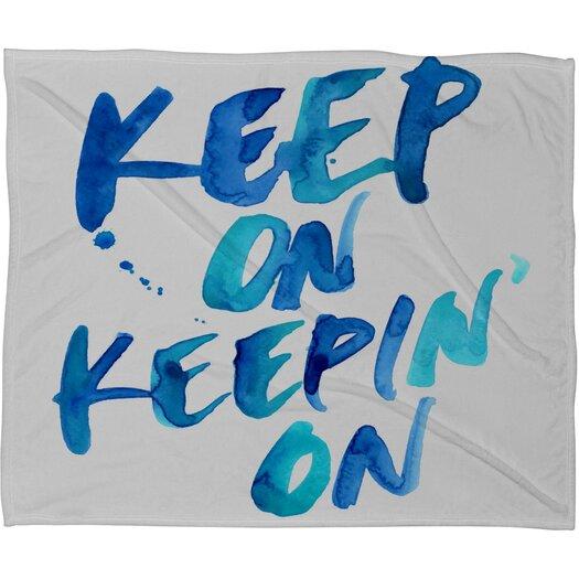 DENY Designs CMYKaren Keep on Keepin On Polyester Fleece Throw Blanket