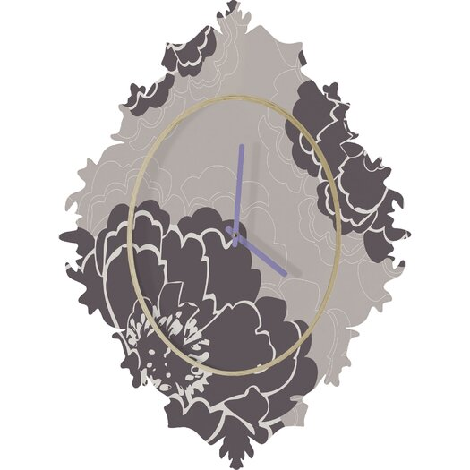 DENY Designs Caroline Okun Winter Peony Wall Clock